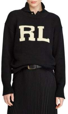 Polo Ralph Lauren RL Logo Rib-Knit Sweater