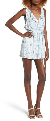 Women's Lush Floral Print Ruffle Romper $45 thestylecure.com