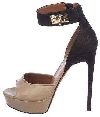 52dcf1e78df Givenchy Leather Shark Lock Heels - ShopStyle