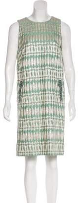 Alberta Ferretti Embellished Brocade Dress