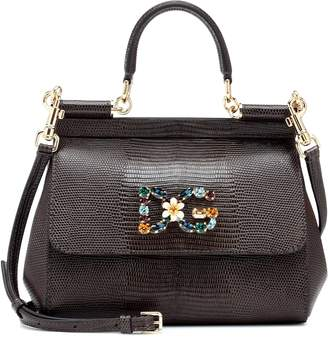 Dolce & Gabbana Miss Sicily Small leather shoulder bag
