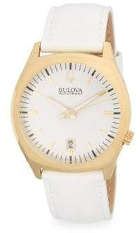 Bulova Surveyor Stainless Steel and Leather-Strap Watch