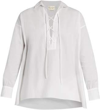 Nili Lotan Shiloh cotton-poplin shirt