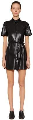 Roberta Faux Leather Dress