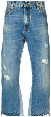 R 13 distressed loose fit jeans