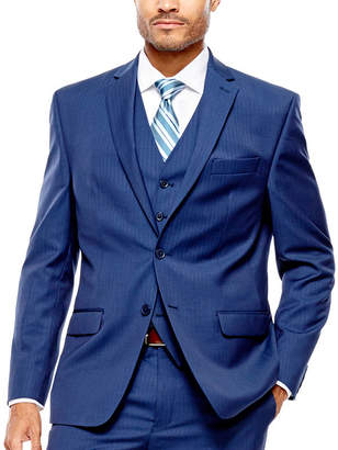 COLLECTION Collection by Michael Strahan Blue Herringbone Suit Jacket - Classic Fit