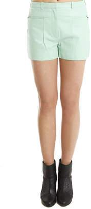 3.1 Phillip Lim A-Line Leather Shorts