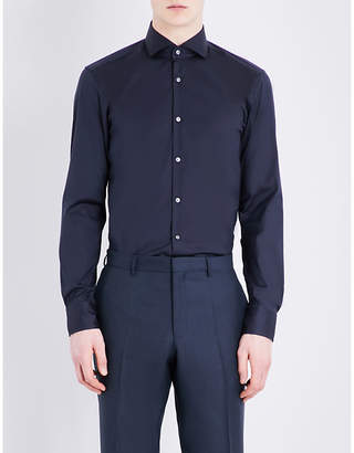 Boss Black Formal Hugo Boss Slim-fit cotton-blend shirt