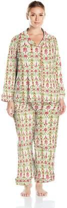 Bedhead Pajamas Women's Plus Size Long Sleeve Classic Knit Pajama Set