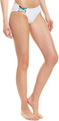 Red Carter Strappy Bikini Bottom
