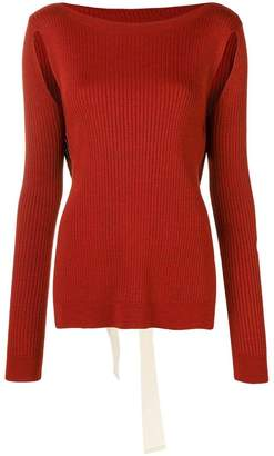 MM6 MAISON MARGIELA ribbed cut out jumper