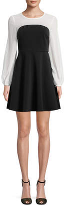 Few Moda Color Block Fit-And-Flare Dress