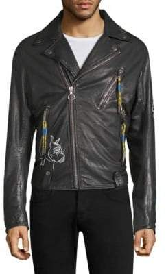 Diesel Will Print Leather Jacket