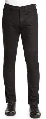 Belstaff Blackrod Slim-Stretch Jeans with Knee Panels, Black
