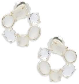 Ippolita Rock Candy Mother-of-Pearl, Clear Quartz, White Moonstone and Sterling Silver Mixed Stone Flirt Earrings
