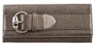 Gucci Metallic Leather Clutch