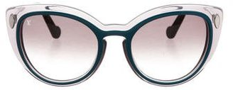 Louis Vuitton Willow Cat-Eye Sunglasses $395 thestylecure.com