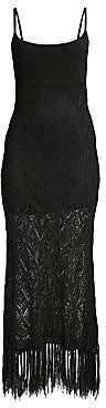 Ramy Brook Women's Maddox Knit Lace Fringe Hem Dress