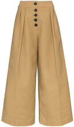 Rejina Pyo high waisted cropped cotton trousers
