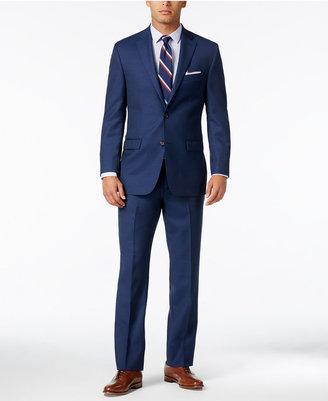 Lauren Ralph Lauren Men's Navy Neat Ultraflex Pure Wool Slim-Fit Suit $625 thestylecure.com