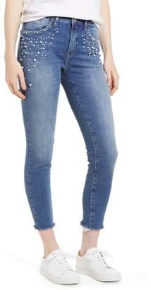 Mavi Jeans Tess Faux Pearl Super Skinny Jeans (Indigo Pearl)