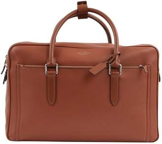Smythson Brown Leather Travel Bag