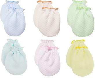 Lucky Brand LUCKY LUCKY Baby Boys Girls Gloves,No Scratch Mittens 100%Cotton 6 Pair.