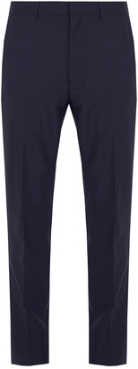 Mid-rise slim-leg wool and mohair-blend trousers