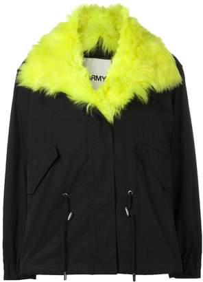 Yves Salomon Army short parka with fox fur collar