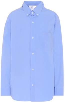 Vetements Oversized cotton shirt