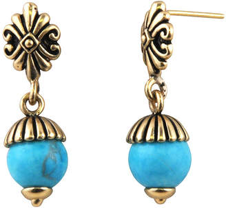 Artsmith BY BARSE Art Smith by BARSE Brass and Turquoise Post Earrings