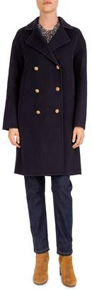 Gerard Darel Pasha Double-Breasted Wool Pea Coat