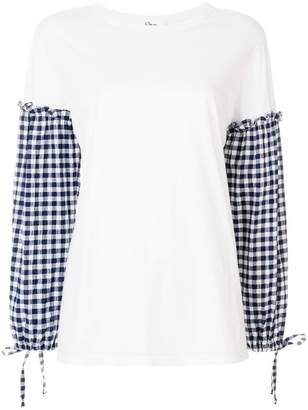Clu gingham sleeve blouse