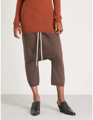 Rick Owens Dropped crotch cashmere trousers