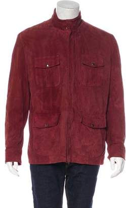 Isaia Suede Lambskin Field Jacket