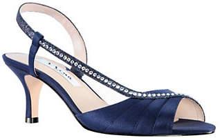 Nina Cabell Satin Slingback Sandals
