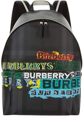 Burberry Smoked Check Graffiti Rucksack