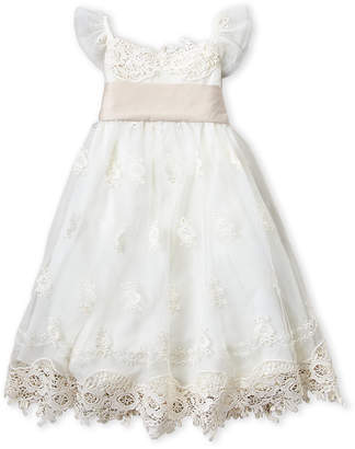 Biscotti Girls 4-6x) Cream Empire Dress