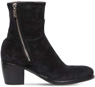 Rocco P. 60mm Zipped Suede Ankle Boots