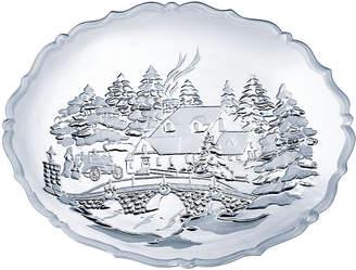 Mikasa Winter Wonderland Crystal Serving Platter