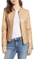 LAMARQUE Lambskin Leather Biker Jacket
