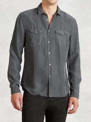 Silk Military Sport Shirt $298 thestylecure.com