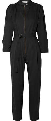 Sea Hemingway Belted Cotton-twill Jumpsuit - Black