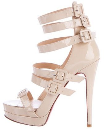 Christian Louboutin  Christian Louboutin Patent Leather Multistrap Sandals