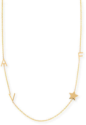 Maya Brenner Designs Personalized Mini Three-Letter & Star Pendant Necklace