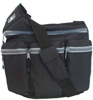 Diaper Dude Messenger Diaper Bag, Black Pinstripe