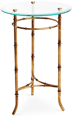 One Kings Lane Bamboo Side Table - Gold