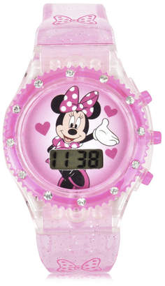 DISNEY MINNIE MOUSE Disney Minnie Mouse Unisex Pink Strap Watch-Mn4093jc