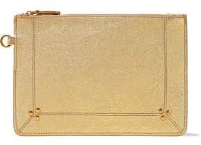 Jerome Dreyfuss Popoche Metallic Textured-Leather Pouch