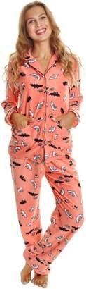 Angelina Cozy Fleece Pajama Set, 91156_Bats_L